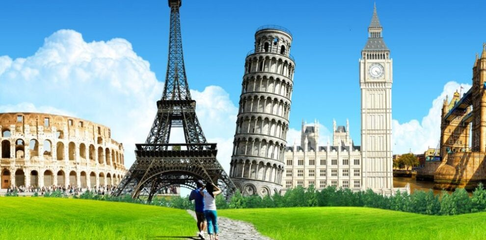 eiffel tower,coliseum,Europe